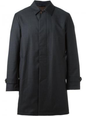 Однобортное пальто Sealup. Цвет: серый