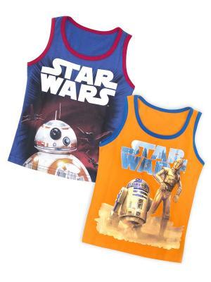 Майка Star Wars. Цвет: синий, оранжевый