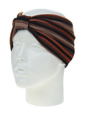 Повязка на голову Migura. Цвет: коричневый, оранжевый, черный