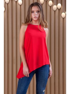 Блузка RUXARA. Цвет: красный