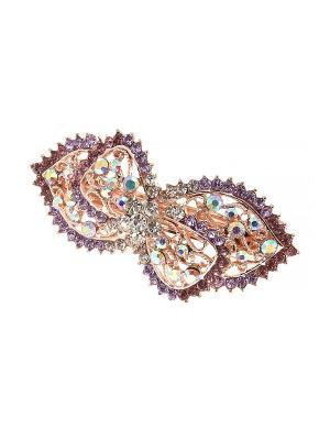 Заколка - автомат Migura. Цвет: серебристый, фиолетовый, золотистый