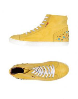 Высокие кеды и кроссовки YAB. Цвет: желтый