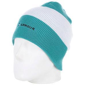 Шапка носок  Stripe Beanie Green/White Armour. Цвет: зеленый,белый