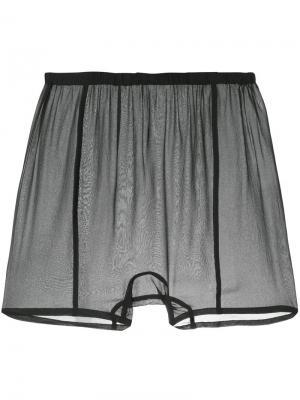 Прозраччные шорты Zambesi. Цвет: чёрный