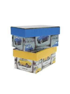 Коробка подарочная - 2 шт. Migura. Цвет: желтый, синий
