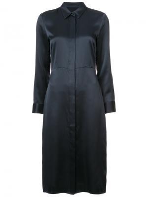 Платье-рубашка кроя миди Jenni Kayne. Цвет: синий