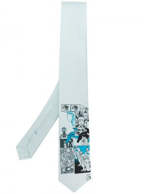 Галстук с принтом Prada. Цвет: синий