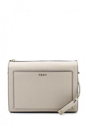 Сумка DKNY. Цвет: серый