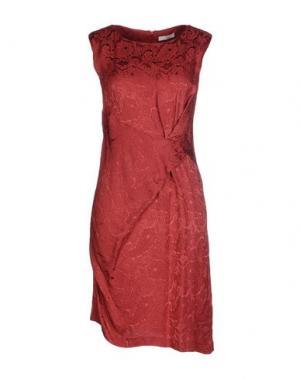 Короткое платье E-GÓ. Цвет: ржаво-коричневый