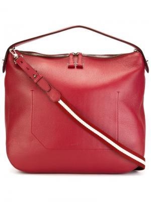 Большая сумка на плечо Bally. Цвет: красный