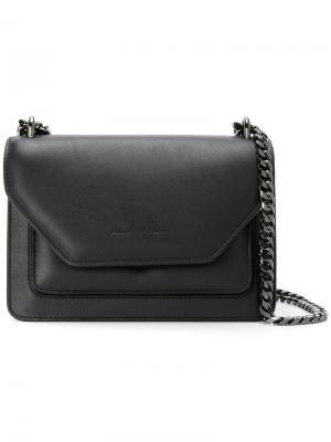 Layered straps shoulder bag Elena Ghisellini. Цвет: чёрный