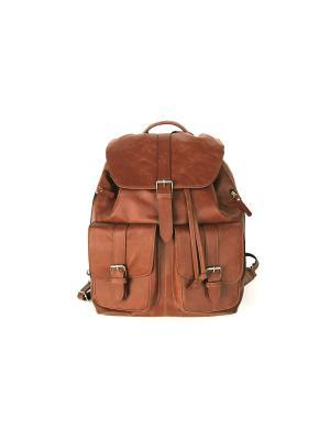 Рюкзак Portland Jack's Square. Цвет: коричневый
