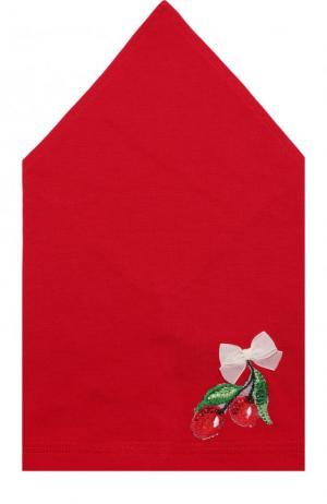Бандана с аппликацией Il Trenino. Цвет: красный