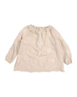 Блузка LA STUPENDERIA. Цвет: бежевый