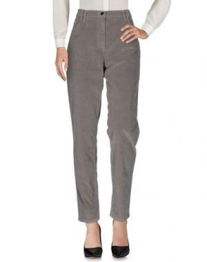 Повседневные брюки BARONI. Цвет: голубиный серый