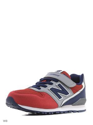 Кроссовки NEW BALANCE 996. Цвет: красный, синий, серый