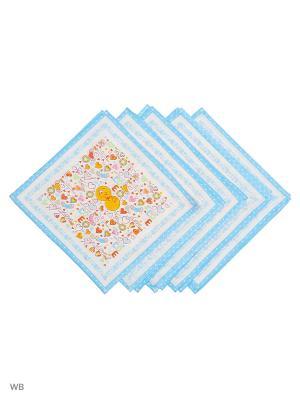 Набор платков носовых детских Римейн. Цвет: белый, голубой