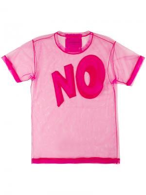 Футболка  No. Icon 1.2 Viktor & Rolf. Цвет: розовый и фиолетовый