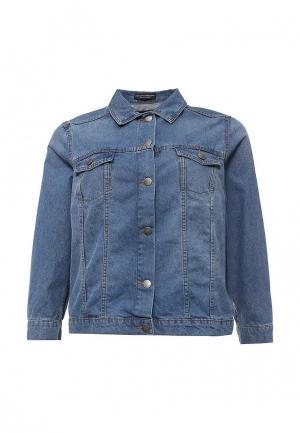 Куртка джинсовая Dorothy Perkins Curve. Цвет: голубой