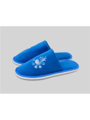 Тапочки женские с закрытым носком. Dream time. Цвет: голубой