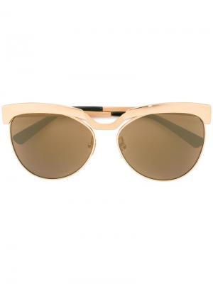 Солнцезащитные очки MCM. Цвет: металлический