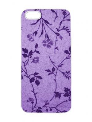 Чехол для iPhone 5/5s Пурпурные лютики Арт. IP5-268 Chocopony. Цвет: лиловый, фиолетовый, белый, темно-синий