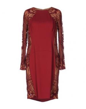 Короткое платье ZUHAIR MURAD. Цвет: красно-коричневый