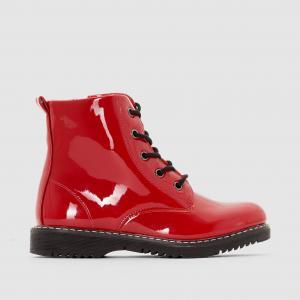 Ботинки лакированные на шнуровке. R édition. Цвет: красный лак,черный лак