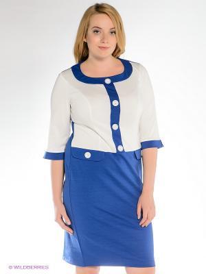 Платье Klimini. Цвет: синий, белый