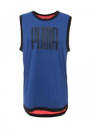 Майка спортивная Puma. Цвет: синий
