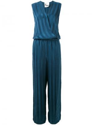 Striped jumpsuit 8pm. Цвет: синий