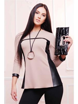 Свитшот Fashion Up. Цвет: бежевый, черный