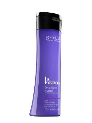 Ежедневный уход для тонких волос. C.R.E.A.M. кондиционер RP BE FABULOUS 250 мл Revlon Professional. Цвет: индиго