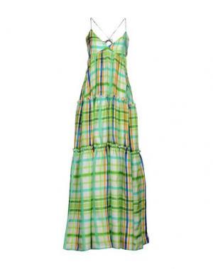 Длинное платье DAIZY SHELY. Цвет: светло-зеленый