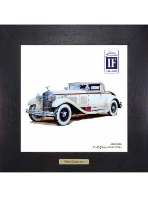 Картина-сувенир Isotta Fraschini, Tipo 8A S Roadster-Cabriolet (1924 г.) Ceramic Picture. Цвет: бежевый