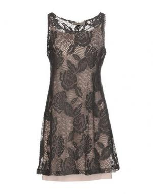 Короткое платье JUST FOR YOU. Цвет: серый