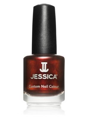Лак для ногтей #734 Cinnamon Kiss, 14,8 мл JESSICA. Цвет: темно-бордовый