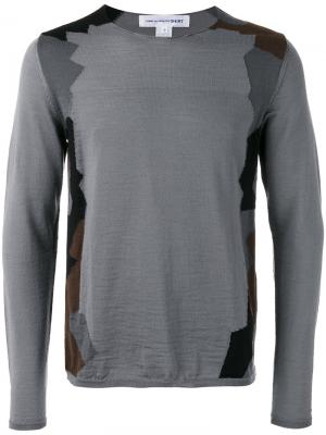 Geometric pattern jumper Comme Des Garçons Shirt. Цвет: серый