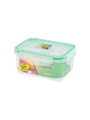 Контейнер герметичный 530 мл XEONIC CO LTD. Цвет: прозрачный, зеленый