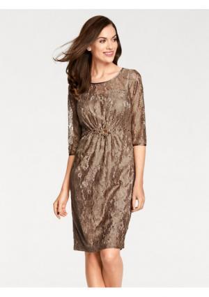 Платье ASHLEY BROOKE by Heine. Цвет: серо-коричневый