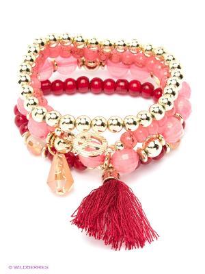 Браслет Lovely Jewelry. Цвет: красный