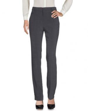 Повседневные брюки L.P. di L. PUCCI. Цвет: свинцово-серый