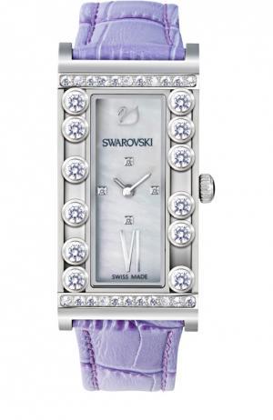 Наручные часы Lovely Crystals Square Swarovski. Цвет: фиолетовый