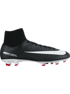 Бутсы MERCURIAL VICTORY VI DF FG Nike. Цвет: черный, красный, серый