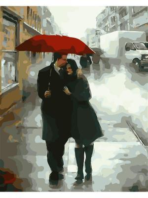 Наборы для рисования (40*50)  Двое под зонтом худ.Даниель Дел Орфано Menglei. Цвет: белый