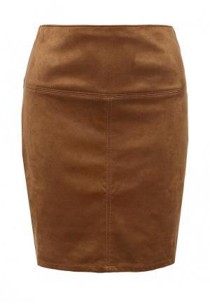 Юбка Tom Tailor. Цвет: коричневый