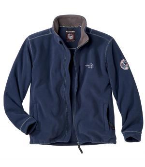 Флисовая Куртка AFM. Цвет: темно-синии