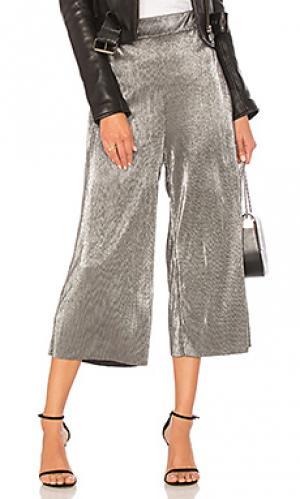 Укороченные брюки olivia LIKELY. Цвет: металлический серебряный