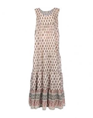 Длинное платье LOCAL APPAREL. Цвет: слоновая кость