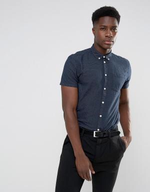 Minimum Рубашка с короткими рукавами Bellino. Цвет: темно-синий